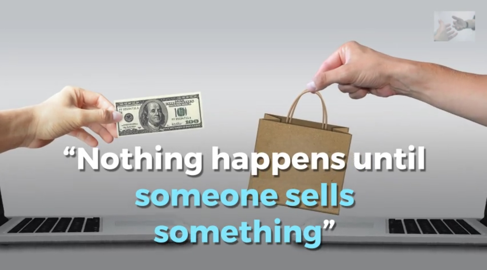 how to say someone was selling something